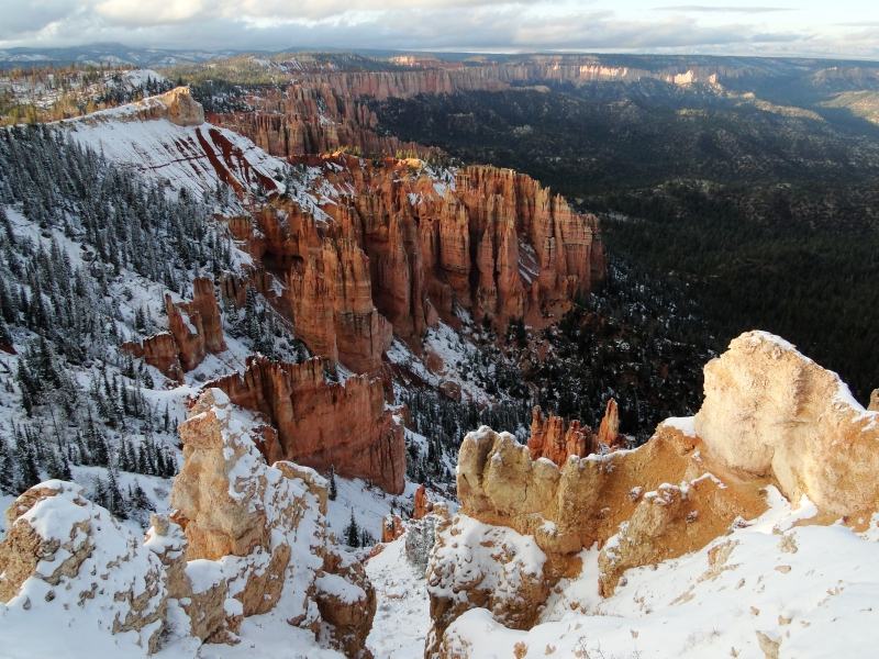 Snow Covered Spires Bryce Canyon Utah