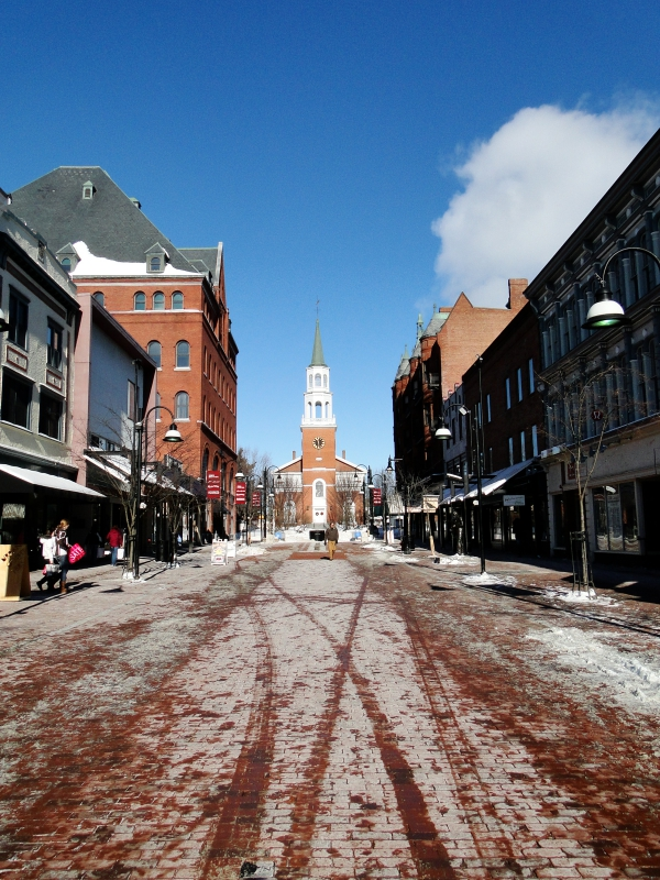 Downtown Burlington Vermont