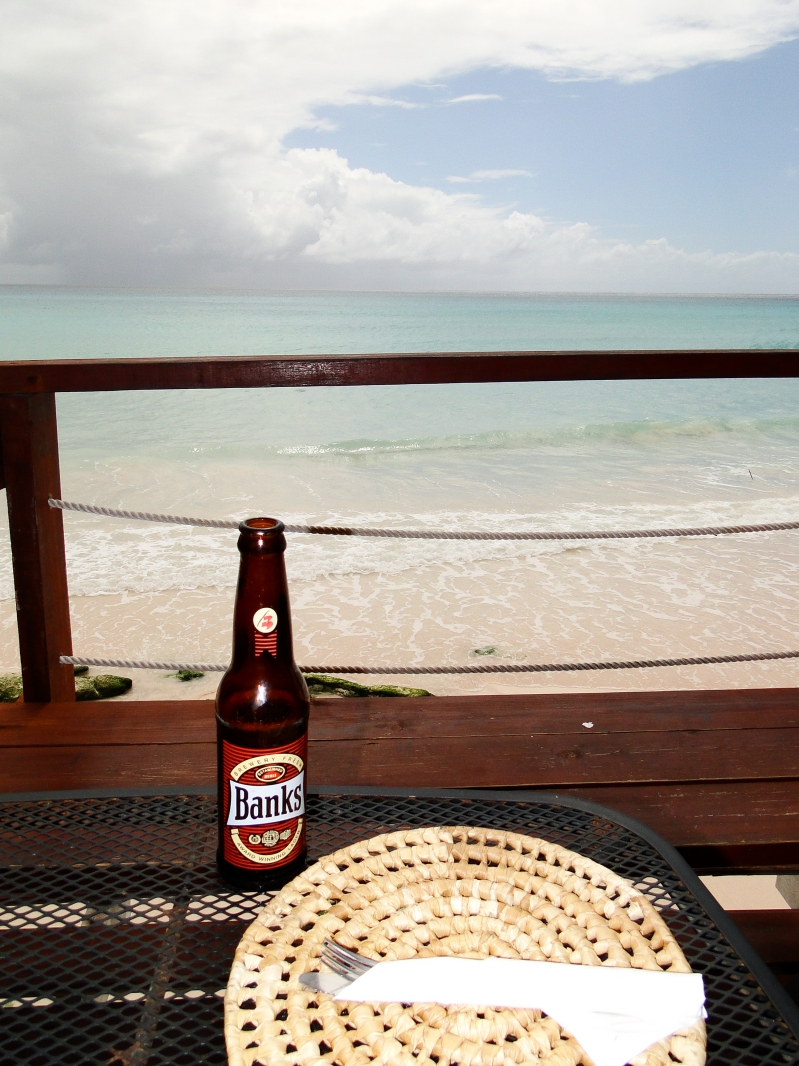 Banks Beer at Surfers Cafe Barbados