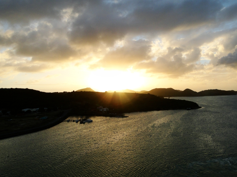 Sunset Departing Antigua