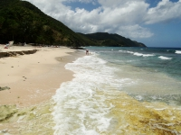 Beach on St Croix Island in the Caribbean