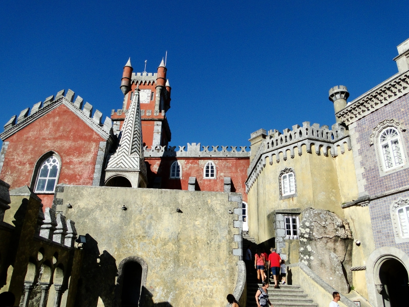 Backside of Palace in Sintra Portugal