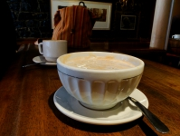 Latte at Cafe in Quebec City Canada