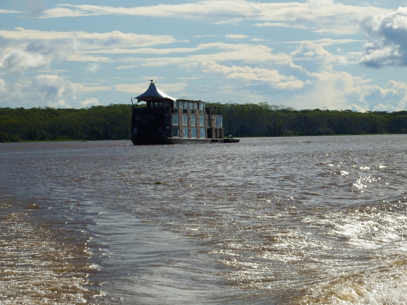 Aria River Boat Amazon Peru