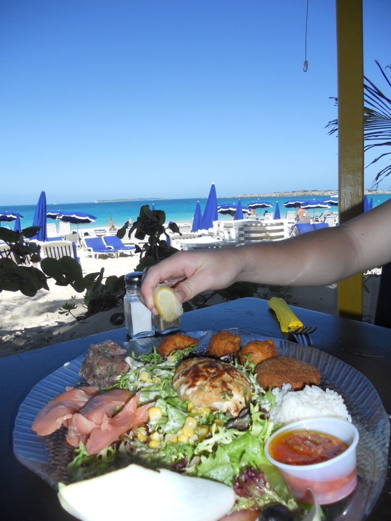 Seafood Lunch on Orient Bay Beach
