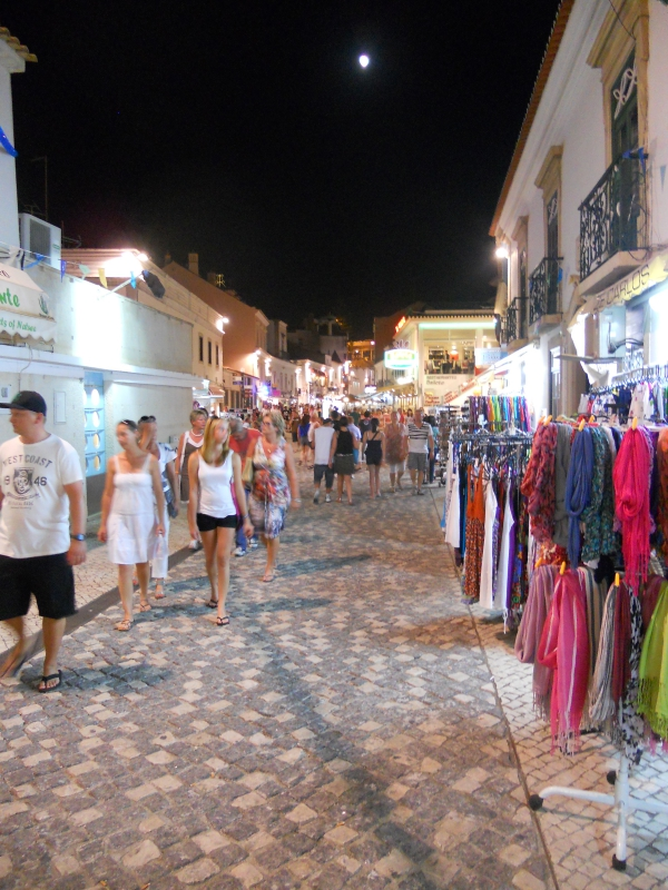 The streets of Albufeira Algarve Portugal