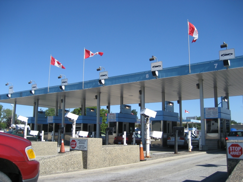 Canadian Border Crossing in Michigan