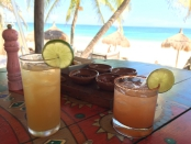 Margaritas at La Zebra Tulum Mexico