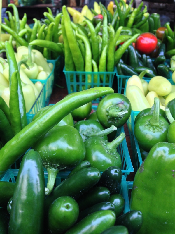 Hot Peppers Union Square Farmers Market NYC