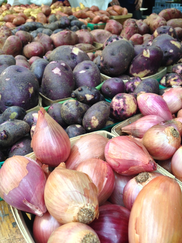 Onions and Potatoes Union Square Farmers Market NYC