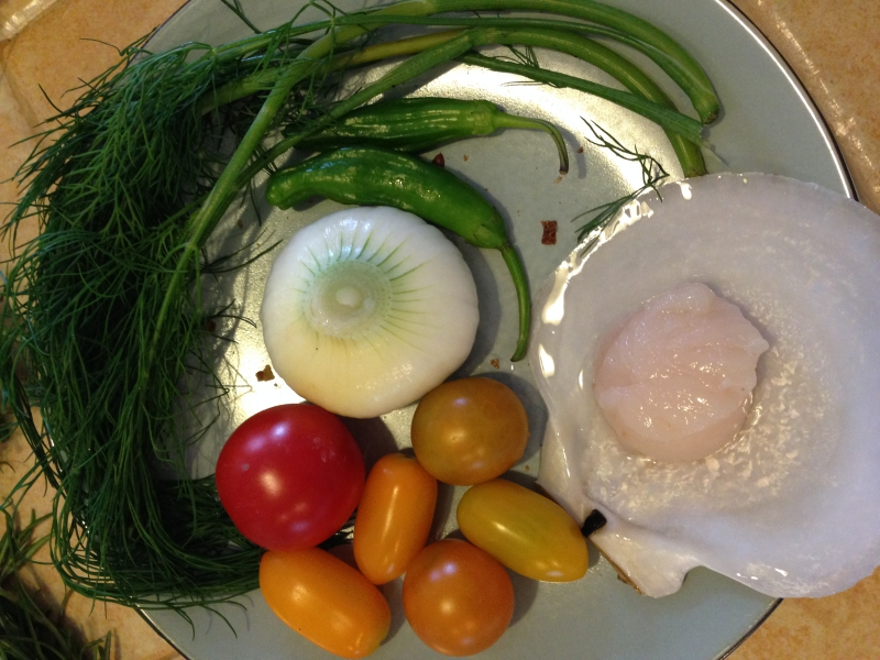 Ingredients for Scallop Ceviche