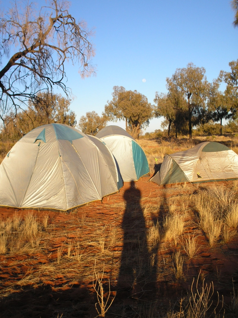Tents Set Up Outside Of King's Canyon Australia