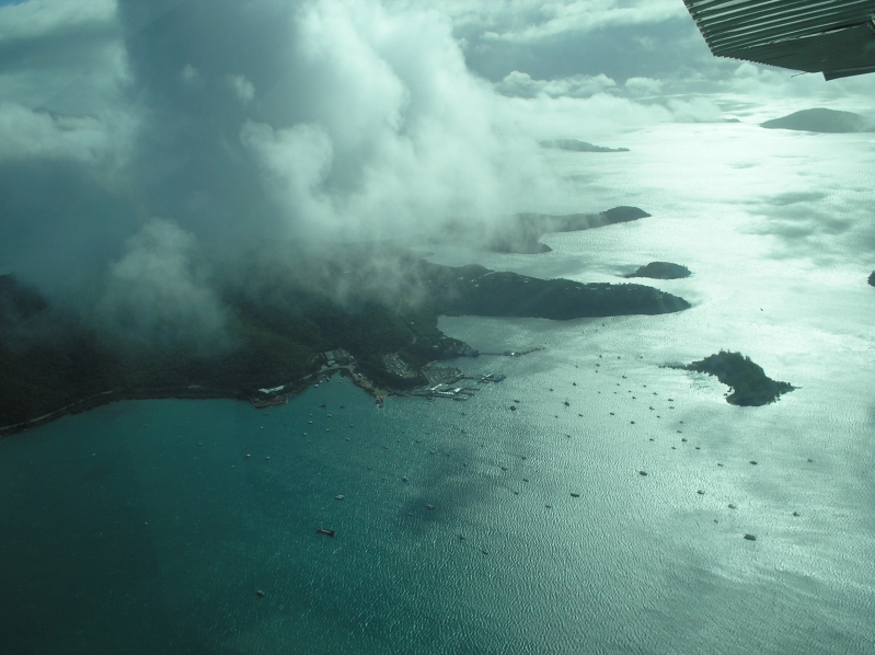 View From Skydiving Plane