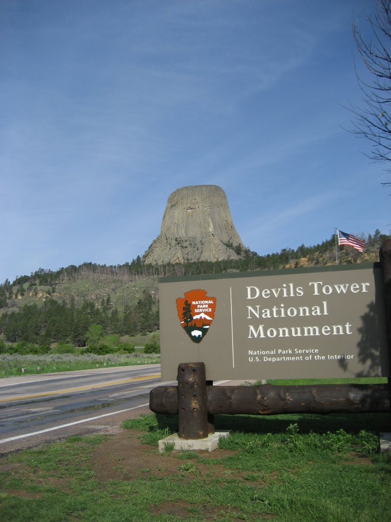 Entrance to Devils Tower National Monument